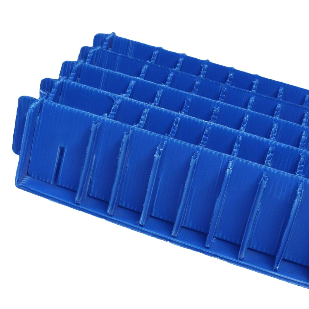 separador de plastico corrugado